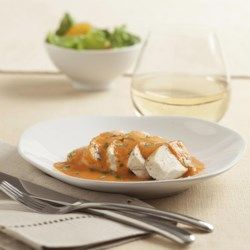 Chicken with Red Pepper Cream Sauce - EatingWell.com