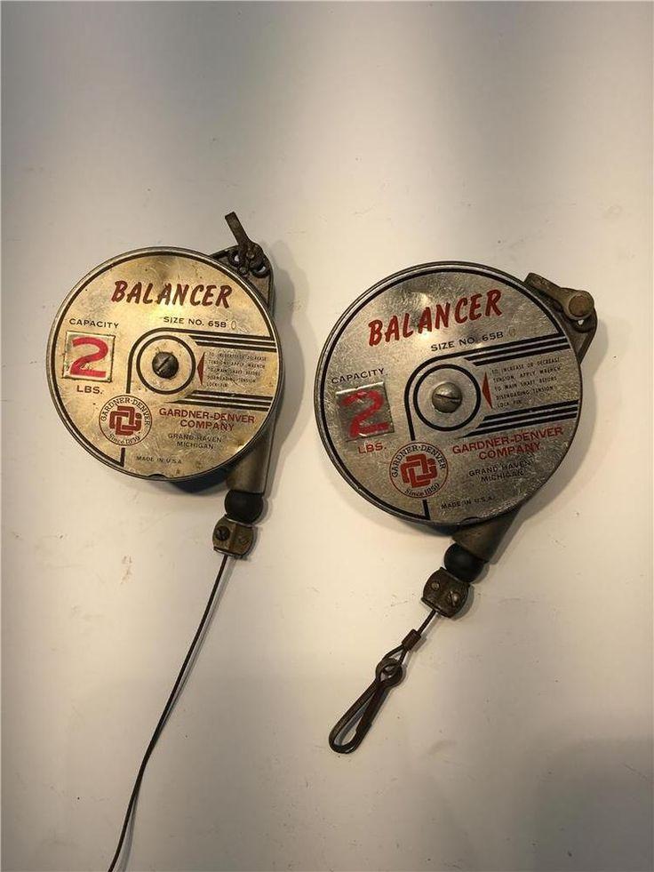 2 Mechanics Light Duty GD Gardner Denver USA 2 Pound Balancer Lot 65B #GARDNERDENVER