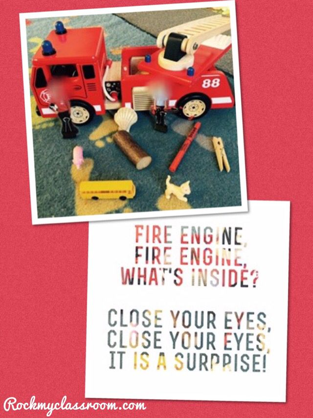 Phase one phonics activity - fire engine rhyme