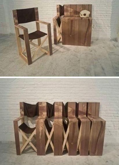 Creative folding chairs