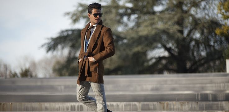 """Thumbnail & header picture of Frank Gallucci's blog article """"First day at Pitti"""".  Model: Frank Gallucci."""