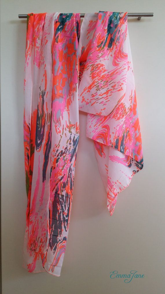 Summer scarf - fluro. Check out this item in my Etsy shop https://www.etsy.com/listing/208193687/summer-scarf-fluro
