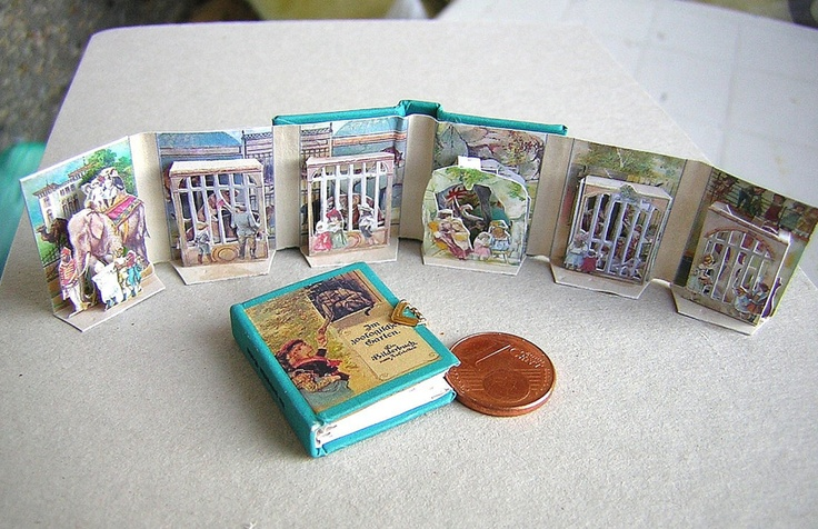 1/12 scale Victorian pop-up miniature book by Janas Minibooks.  These are really awesome...