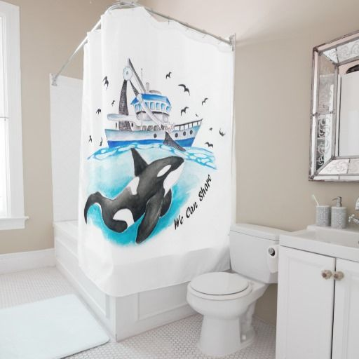 Superior Orca Shared Shower Curtain