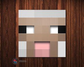 Adesivo Caixa Acrílica Ovelha Minecraft