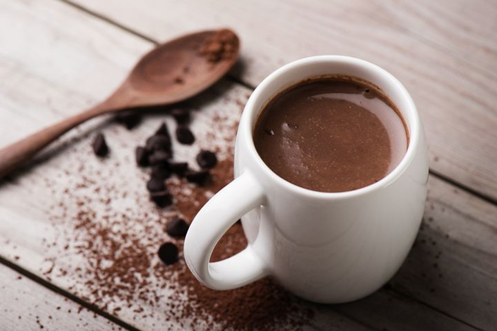 Giada De Laurentiis' Double-Cocoa Hot Chocolate : Warm up during the winter with this indulgent recipe.