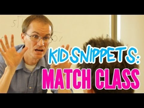 """Kid Snippets: """"Math Class"""" (Kids Talk, Adults Act)  I am hooked on these videos.  As a teacher I really like this one."""