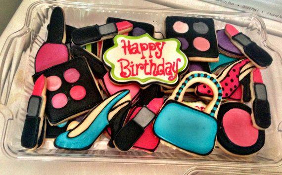 12 Girlie Girl Spa Party Sugar Cookies by BakeMyDayCookies on Etsy, $36.00