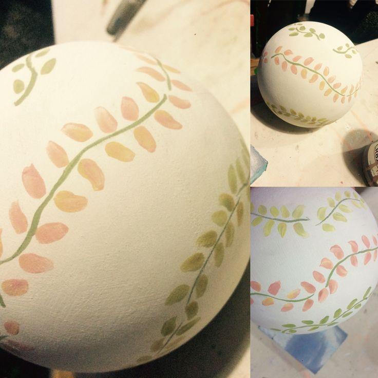Bolas Ceramica. Hojitas. Inprocess