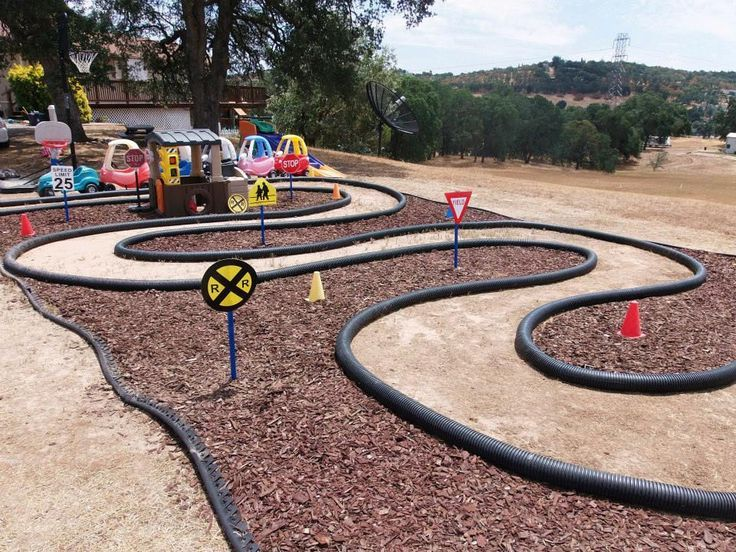photo of homemade outdoor race track - Yahoo Search ...