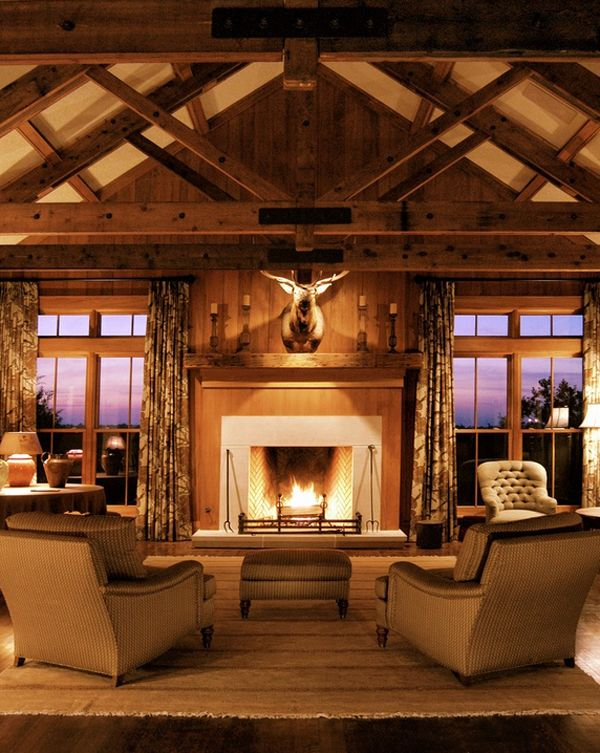 Wonderful Fireplaces In The Dining Room For Cozy And Warm: 241 Best Images About Ceiling Trusses And Arched Beams On