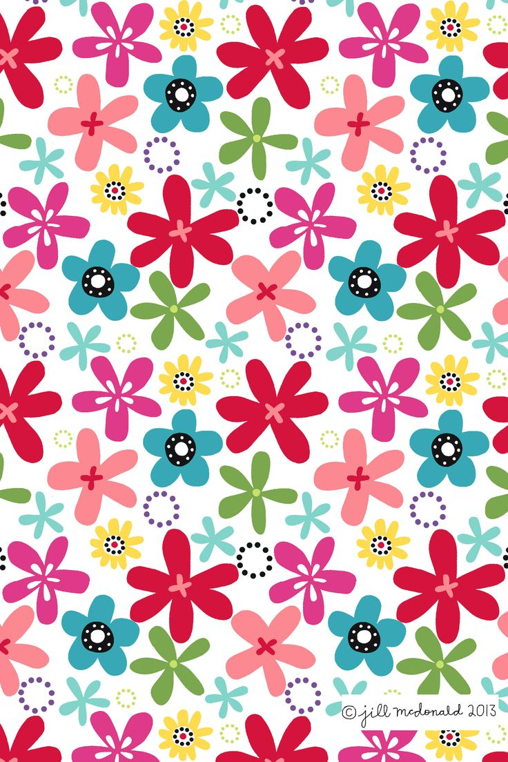 Wallpaper flores colores wallpapers iphone iphone - Papel tapiz infantil ...