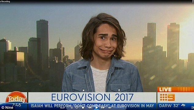 Huh? Isaiah Firebrace, 17, was responding to a question about who his role models are when Karl interjected asking: 'What about Barry White?' - before bursting into song