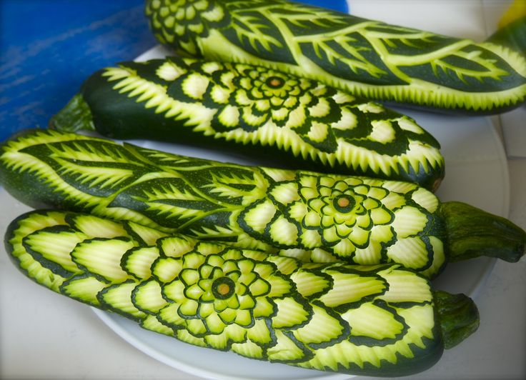 Courgette (zucchini) ~ click through to see more veggie sculptures