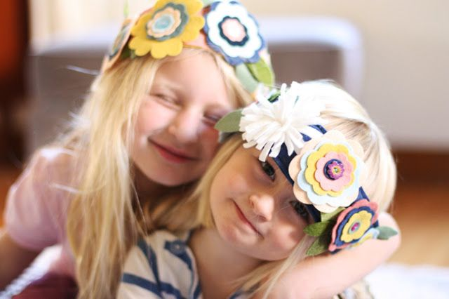 Felt flower crowns for your flower children | Offbeat Bride