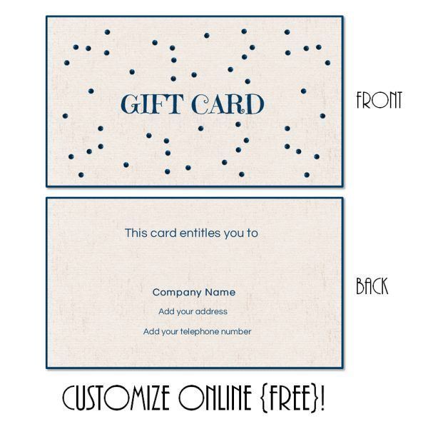Free Printable Gift Card Templates That Can Be Customized Online. Instant  Download. You Can  Gift Voucher Templates Free Printable