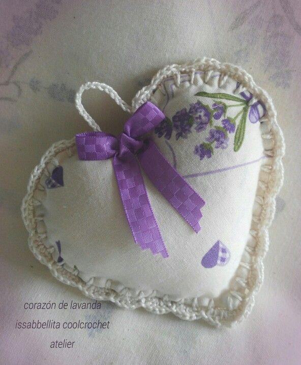 Sweet lavander  heart crochet