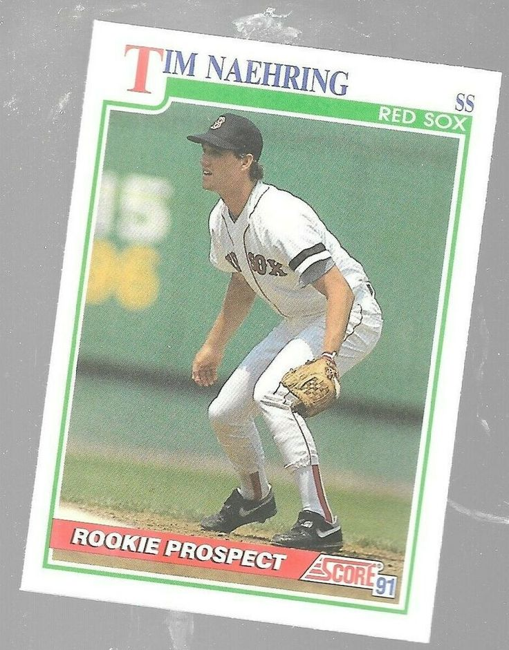 1991 score tim naehring 356 rookie prospect boston red sox