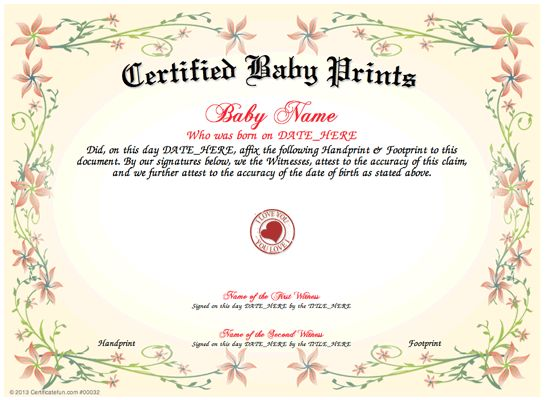 1000  images about baby certificate templates on pinterest