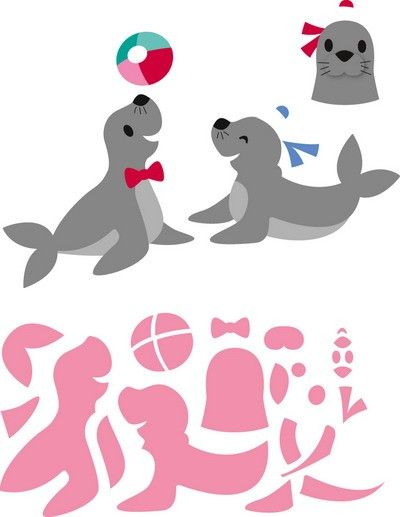 Marianne Design - Die - Collectables - Eline`s seals - COL1432 Knutselruimte AGUINIJ