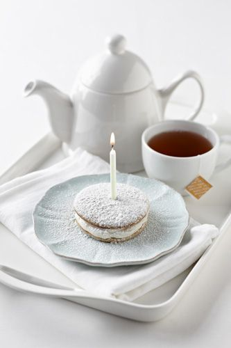 Birthday whoopie pie & tea. Yes, thank you!