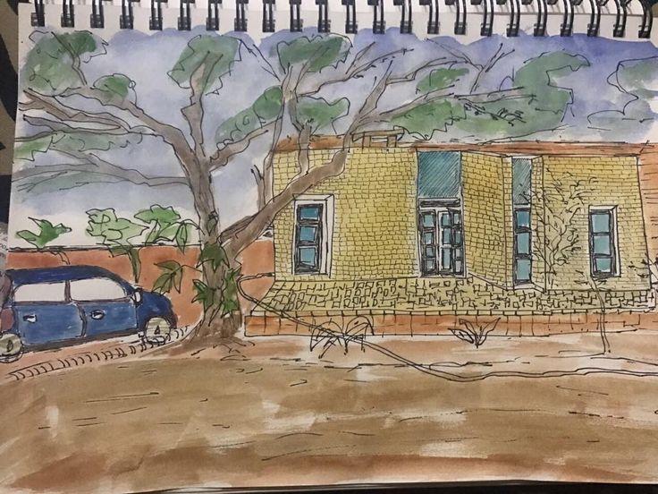 Sunday @urban sketching at punjab agriculture university ludhiana