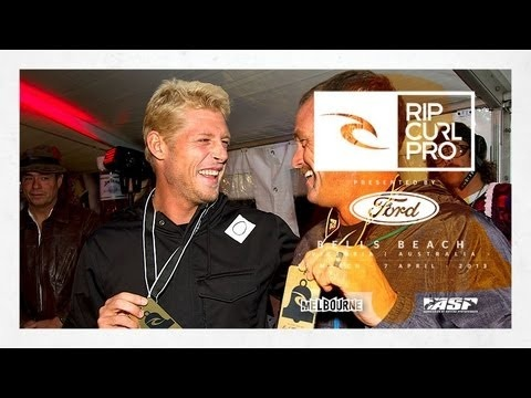Mick Fanning Receives Rip Curl Pro Gold Pass - Rip Curl Pro Bells Beach 2013