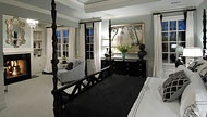 This is the perfect master suite for couples looking to have a touch of both sexes featured in the interior design. The mix of black and white accents give this an elegant, sleek design. To see the actual floor plans for this home, click here: http://www.thehousedesigners.com/plan/orleans-ii-8069/