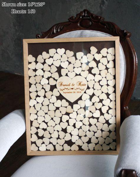 Ihre Gäste unterzeichnen Herz Wünsche für Sie und lassen Sie sie durch das obere Loch und Herz wird an der Box. Dieses Gästebuch wird eine wunderbare Dekoration für jeden Wohn- oder Schlafzimmer...