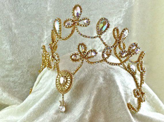 Rhinestone Ballet Tiara  Madetoorder by CarynWellsDesigns on Etsy, $375.00