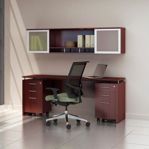 Save On Medina Casegoods And Executive Style Computer Furniture Sets By Mayline At Office Deals This Mahogany Finished Credenza Desk With Mobile