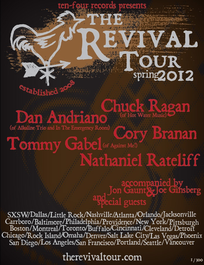 Can't wait for this one...: Tours Features, Revival Tours, 3Rd Time, Water Music, Tours Review Galleries, Chuck Ragan, Http Digtb Com Therevivaltour, Tours Finals, April 3Rd