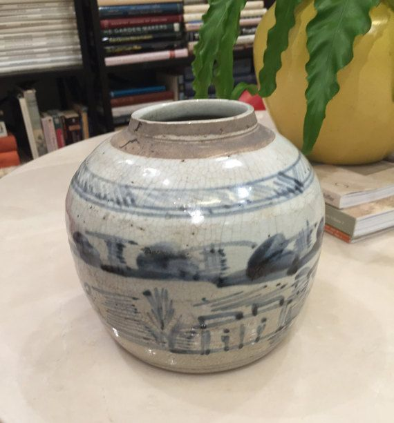 Blue and White Southern Chinese Ginger Jar