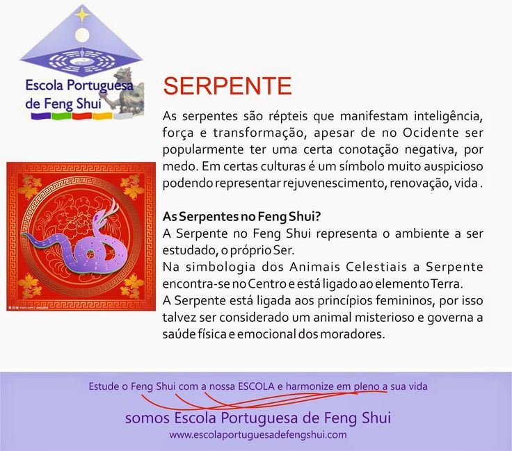 Escola Portuguesa de Feng Shui: SERPENTE