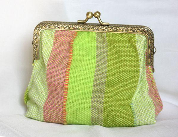 Retro purse frame Guatemala canvas