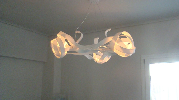 Cocoon corian suspension lamp by Lucis