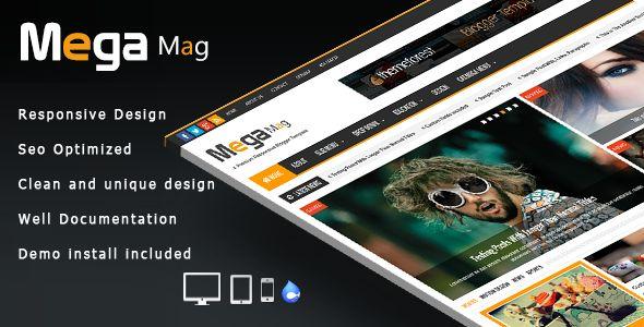 Mega Mag - Responsive Magazine Drupal Theme