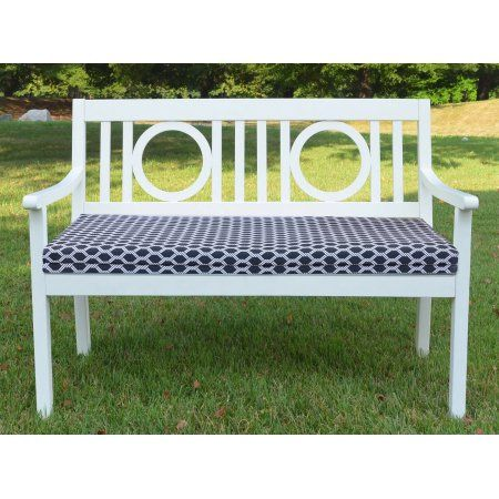 Tremendous Chf Basketweave Outdoor Bench Seat Cushion 48 Inchx18 Inch Cjindustries Chair Design For Home Cjindustriesco