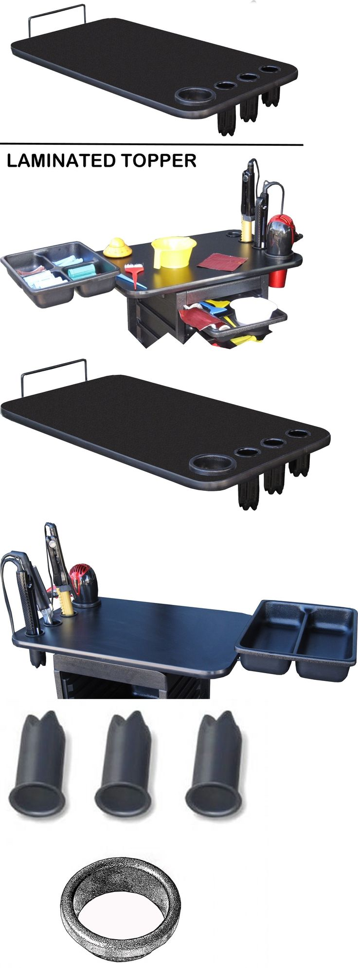 Stylist Stations and Furniture: Laminated Top Topper With Built In Appliance Holder Rollabout Salon Trolley -> BUY IT NOW ONLY: $49.95 on eBay!