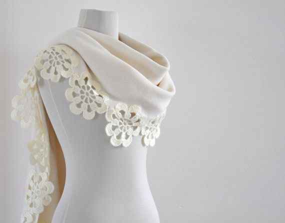 Fleece Scarf Shawl Wedding Shawl Bridal Scarf by reflectionsbyds, $90.00