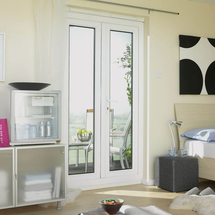 6ft Clear Glazed PVCu External French Door Set, (H)2055mm (W)1790mm | Departments | DIY at B&Q