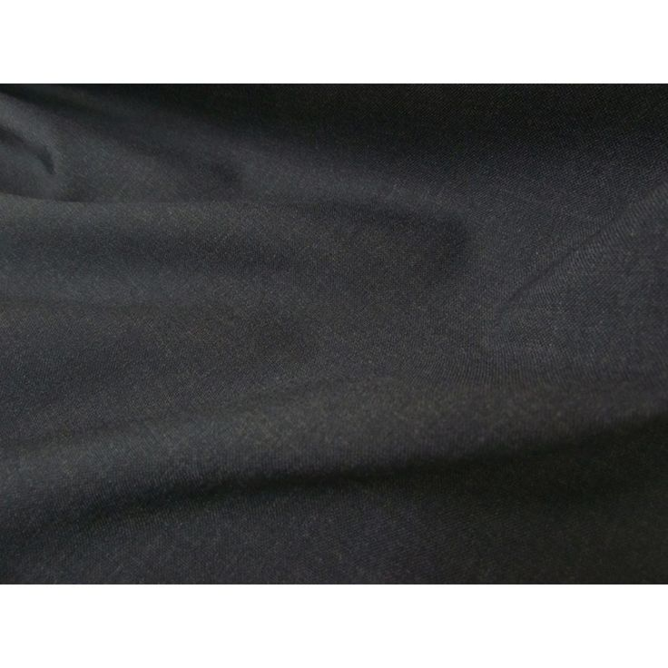 Designer Wool Suiting- Charcoal  Wool Poly