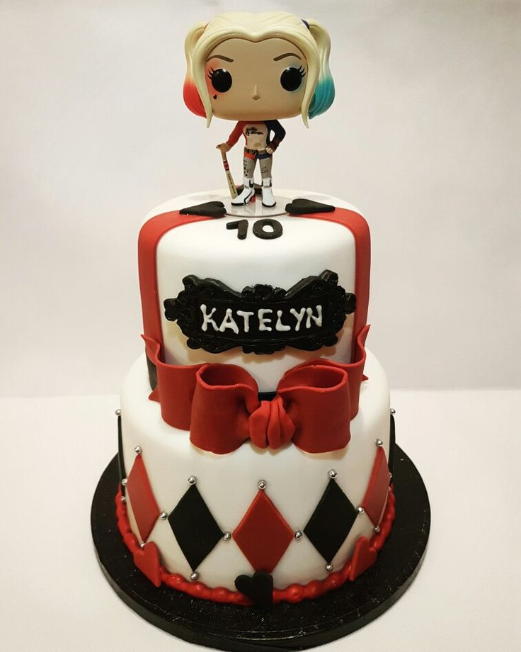 Harley Quinn cake made for my daughter's 10th birthday