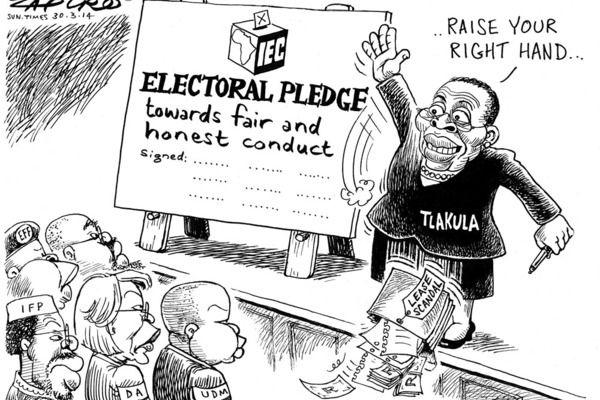 Zapiro: IEC's Tlakula and the electoral pledge.