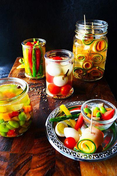 暑い季節にさっぱり野菜補給!ピクルスをつくろう♪ | レシピブログ ... 4種のピクルス