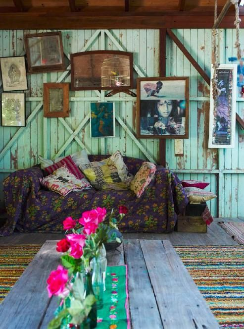 Rustic styling in a cabin