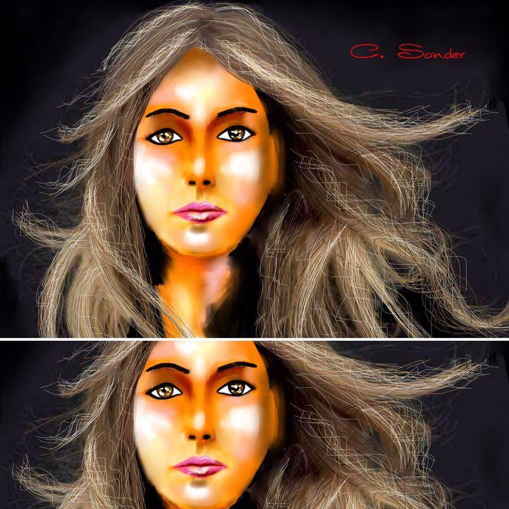 Art by Carmen Sander Self portrait   new friends are welcome Share yes . Teilen erlaubt  Bilder kopieren nicht erlaubt  copy images not allowed  My 2 Art Page please  for Like   https://www.facebook.com/Carmen-Sander-Freischaffende-K%C3%BCnstlerin-177191472331537/  https://www.facebook.com/Art-by-Sander-794011640728934/