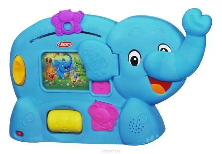 """Обучающая игрушка Playskool """"Слоник""""  — 3594р. ----------------- Обучающая игрушка """"Слоник"""" - это настоящий учитель для Вашего ребенка. Он поможет Вашему Крохе выучить: буквы, слова, счет, цвета, формы, манеры и многое другое! На его боку расположен экран, где по очередности будут показываться все его друзья. Бабочка, расположенная в верхней части, научит ребенка считать до 10! Также игрушка развивает мелкую моторику: чтобы начать игру, нужно опустить вниз хобот слоника. Нажмите на мышку…"""