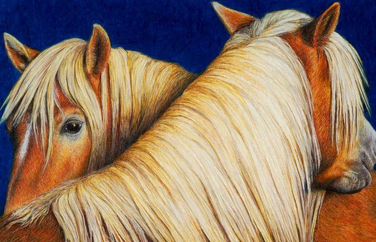 Cuadros Modernos: Caballos Pintados en Acuarela, Pinturas de Pat Erickson