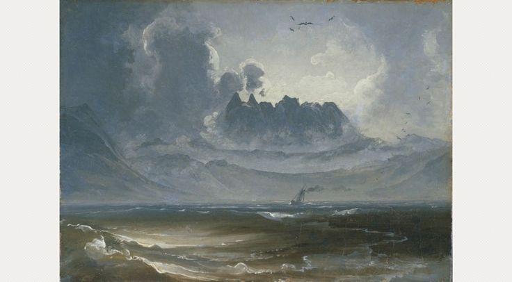 Peder Balke, The Mountain Range 'Trolltindene', c.1845
